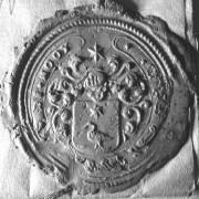 (001) Arien de Noo d.d. 29-01-1755. Schepen van Nederhemert. Arien zegelt met het stempel van zijn vader Jan Gijsbertse de Noo.