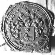 (002) Arien de Noo d.d. 29-01-1755. Schepen van Nederhemert. Arien zegelt met het stempel van zijn vader Jan Gijsbertse de Noo.