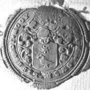 (004) Arien de Noo d.d. 07-09-1765. Schepen van Nederhemert. Arien zegelt met het stempel van zijn vader Jan Gijsbertse de Noo.