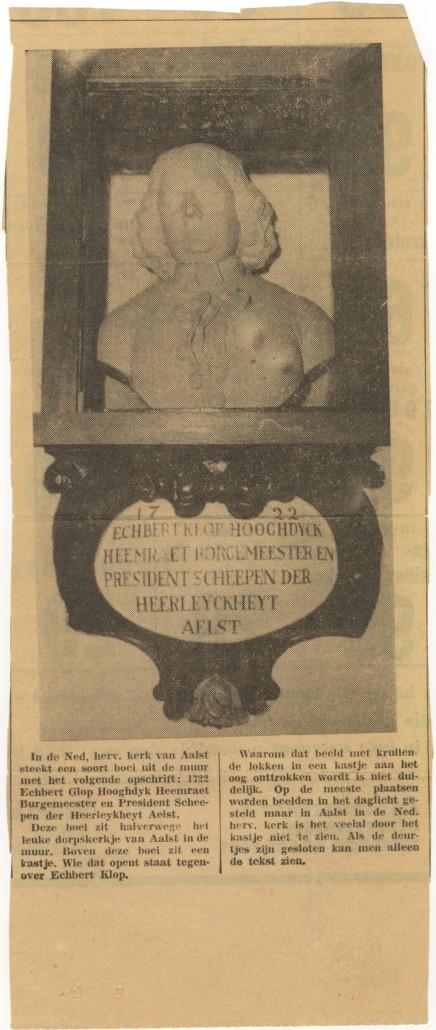 (296) 1722. Echbert Klop, hooghdyck heemraet